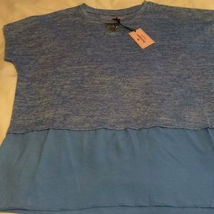 New Juicy Couture blue shirt sleeved shirt s or xl